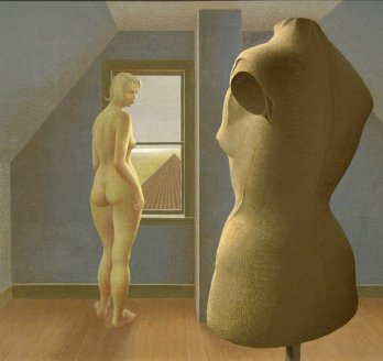 Nu_Nude/Alexander Colville, Nu et mannequin-Nude and Dummy, 1950_Purchased from the artist, 1951, New Brunswick Museum, Saint John