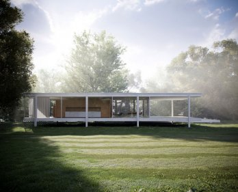 Farnsworth House by Mies van der Rohe_Peter Guthrie
