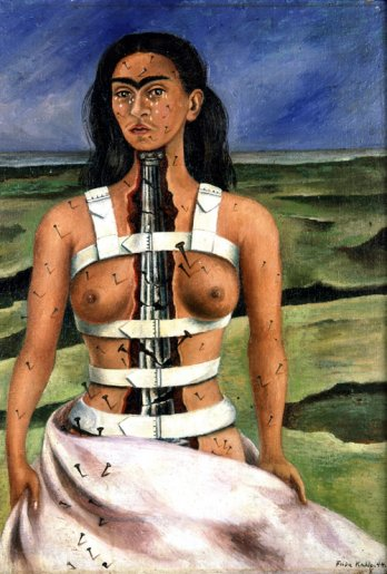 Frida Kahlo/La columna rota (The Broken Column), 1944_Collection Museo Dolores Olmedo, Xochimilco, México