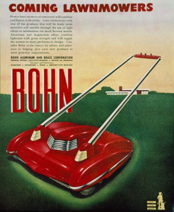 Arthur Radebaugh, Affiche Coming Lawnmowers, 1940 - 1945_Denis Farley_Montréal_Canada
