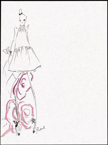 Kate & Laura Mulleavy_Rodarte, sketches_Gap_New York_USA