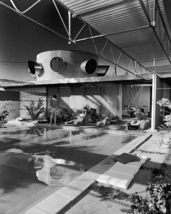 Albert Frey�s Frey Residence, Palm Springs, 1953, by Julius Shulman, 1953.