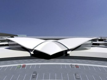 Eero Saarinen_TWA Terminal New York International (now JFK International), Circa 1962_Balthazar Korab_New York_USA