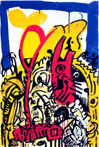 Keith Haring_Red, Yellow, Blue 21