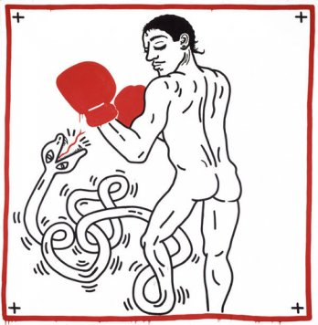 Keith Haring_Portrait of Macho Camacho, 1985