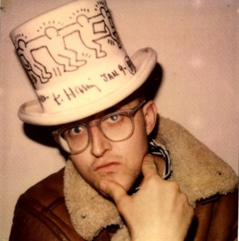 Keith Haring with hat