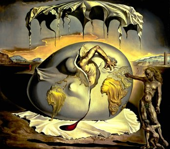Salvador Dal�_Geopoliticus Child Watching the Birth of the New Man, 1943_Salvador Dal� Museum, St. Petersburg (Floride) � Salvador Dali, Fundaci� Gala-Salvador Dali / SODRAC (2008)