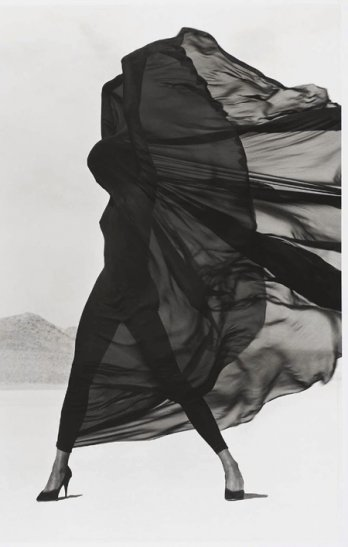 HERB RITTS_Versace Veiled Dress, El Mirage, 1990