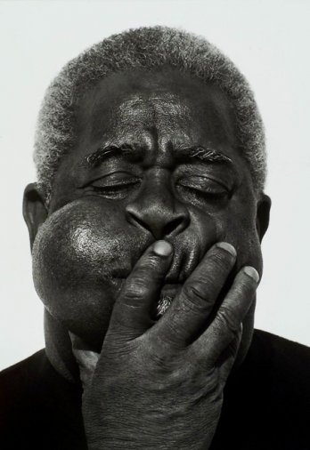 HERB RITTS_Dizzy Gillespie, Paris, 1989