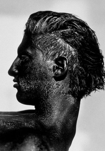 HERB RITTS_Tony with Black Face, Profile, Los Angeles, 1986