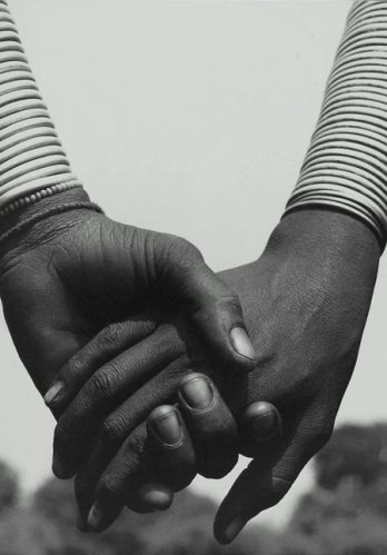 HERB RITTS_Nandoye and Nangini, Hands Joined, Africa, 1993