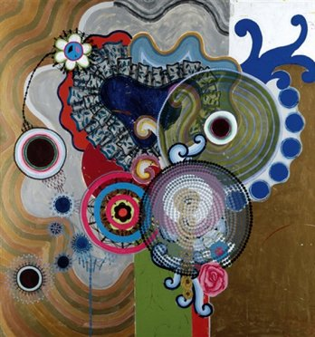 Beatriz Milhazes/A chuva, 1996