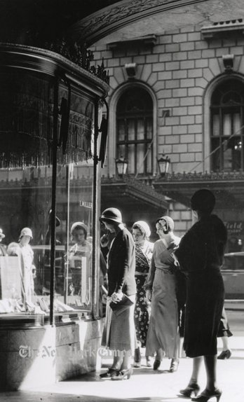 Window Shopping at I. Miller-Circa, 1930_Irving Browning_The New York Historical Society