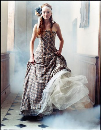 Lily Cole in Chateau near paris, British Vogue, 2004