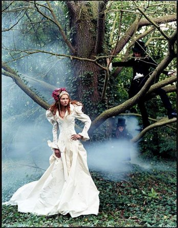Lily Cole in Chateau near paris
